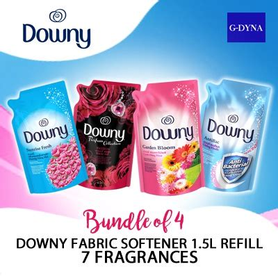 downy refill 1 5l buy g dyna bundle of 4 downy fabric softener 1 5l refill