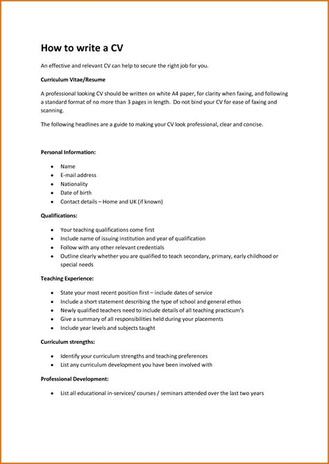 how to write resume for application 13 how to write a cv for application lease template