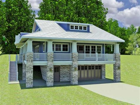 modern hillside home plans small hillside home plans