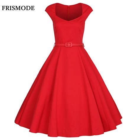 red swing dress vintage aliexpress com buy frismode xs 4xl 2017 summer fashion v