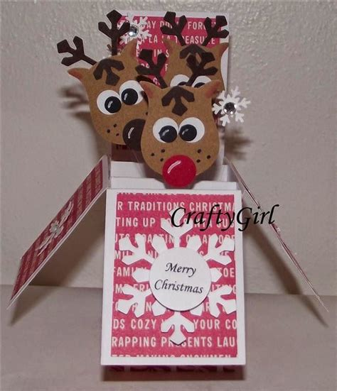 reindeer pop up card template 1000 ideas about pop up card templates on