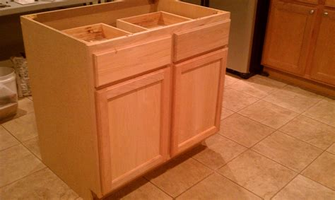 building a kitchen island using cabinets