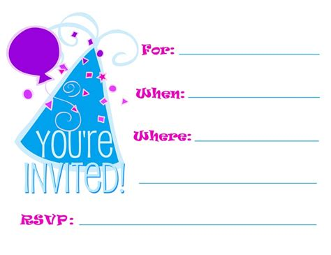 6 best images of free printable party invitations adults