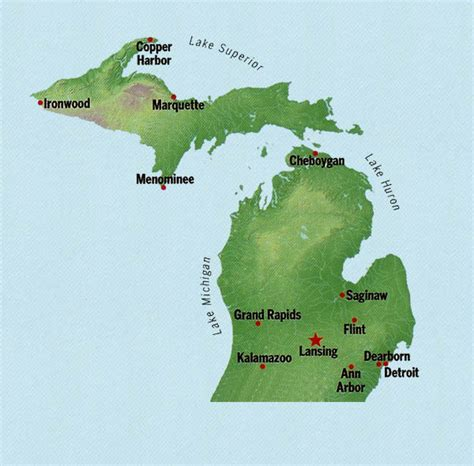 Free Address Search Michigan Michigan State Maps Interactive Michigan State Road Maps State Maps
