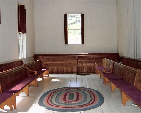 quaker meeting house who saw in it the infinite love of god a silence
