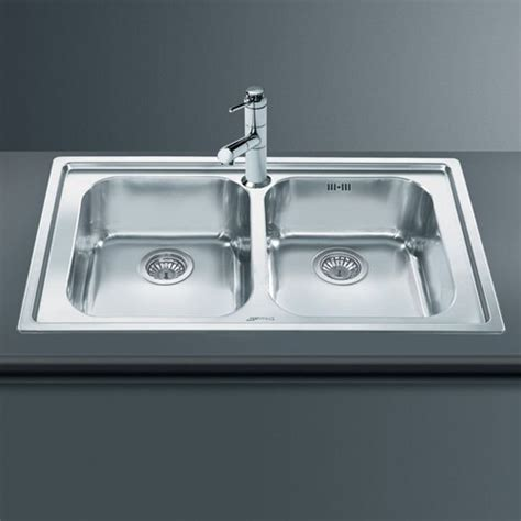 rigae 2 0 bowl sink stainless steel smeg sinks