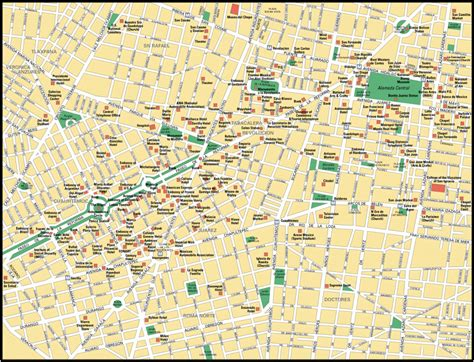 tourist map of mexico city map of mexico city travelsmaps