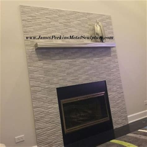 buy a custom stainless steel fireplace mantel made to