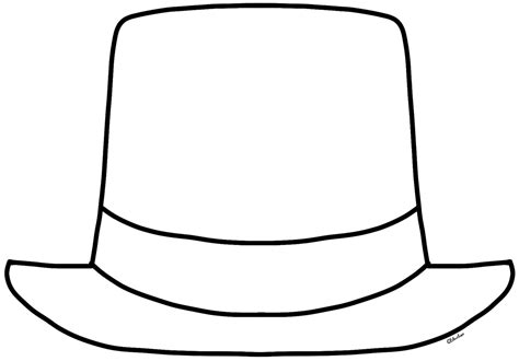 Monochrome Clipart Hat Pencil And In Color Monochrome Clipart Hat Hat Template