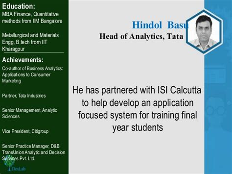 Mba In Data Analytics In Bangalore by Dexlab Analytics Top 4 Indian Data Scientist 2016