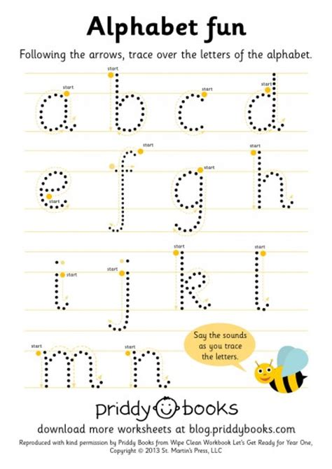 alphabet worksheets year 1 download and print worksheets priddy books