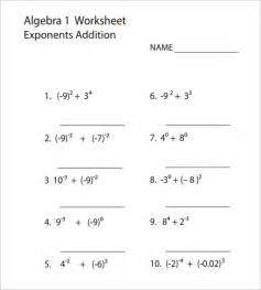 10 college algebra worksheet templates free word amp pdf