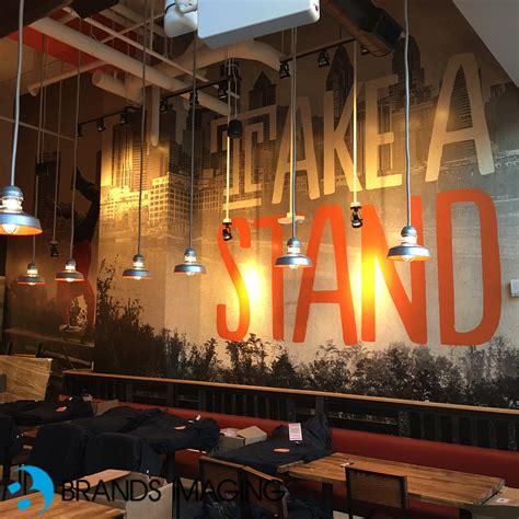 interior wall murals using wall murals to establish atmosphere brands imaging