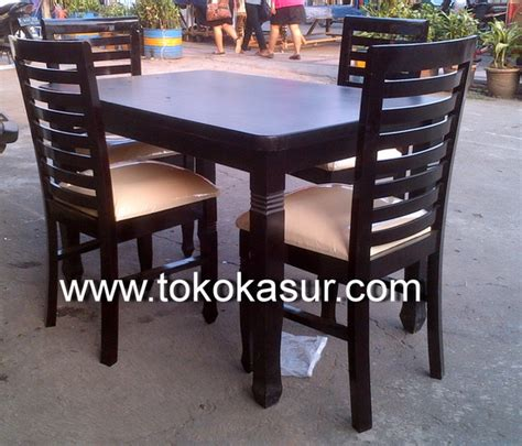 Kursi Plastik Elephant meja makan 4 kursi sydney kayu warna salak