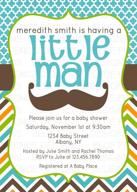 Free Mustache Baby Shower Invitation Templates free mustache baby shower invitations templates all
