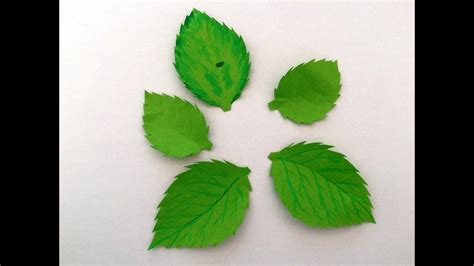 How To Make A Leaf Out Of Paper - leaves from paper diy paper craft fleurs