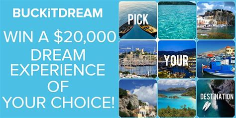 Fund Your Dreams Giveaway - buckitdream s win 20 000 to live your dream contest sweepstakesbible