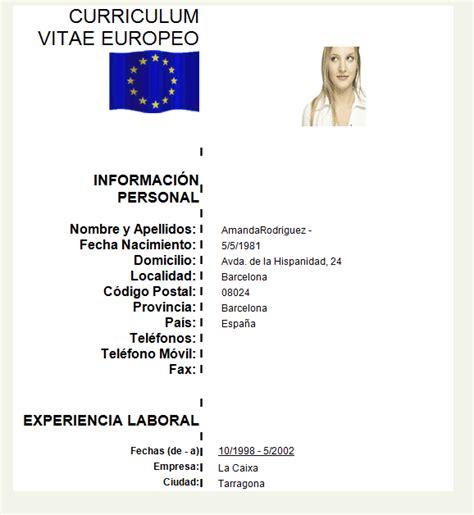 Modelo Curriculum Europeo Word Ingles gratis de 40 modelos curriculum vitae en html para descargar ejemplo curriculum vitae