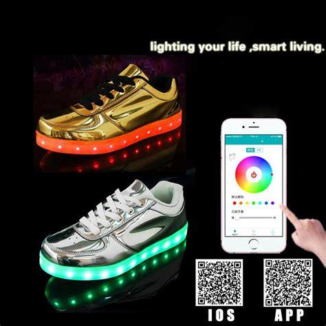 light up shoes app led light app charging shoes phone call led