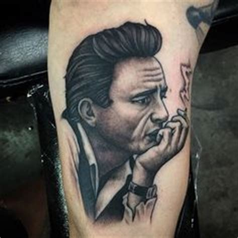 simple johnny tattoo the best johnny cash tattoo i ve seen simple and clean