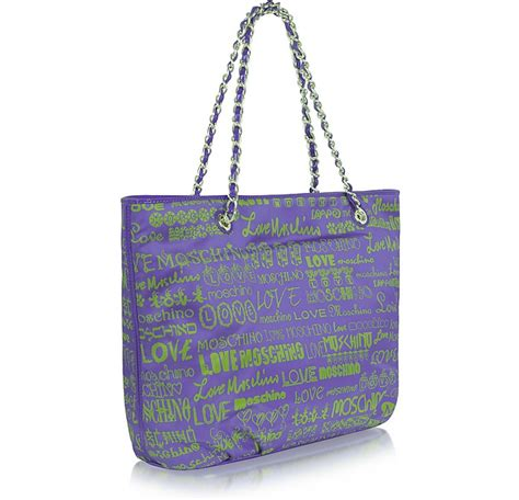 Moschino Canvas Rope Tote by Moschino Moschino Large Signature Canvas Tote At