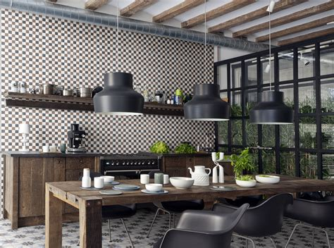 decoration modern industrial kitchen cemetine porcelain