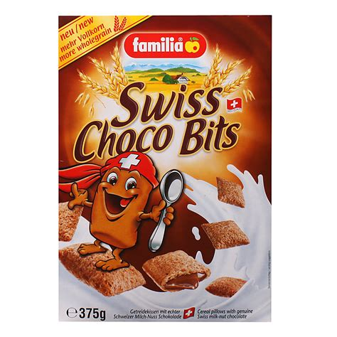 Chocolate Pillows Cereal by Familia Swiss Choco Bits 375g From Redmart