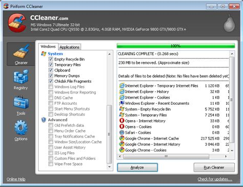 ccleaner vs windows best free privacy history and system cleaner