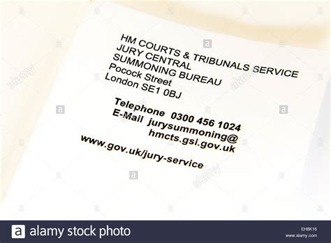 Jury Service Letter Uk Jury Summons Letter Letterhead Crown Court Appearance Lincoln Uk Stock Photo Royalty Free Image