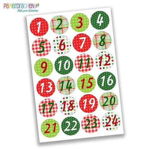Aufkleber Zahlen by Adventskalender Zahlenaufkleber Papierdrachen