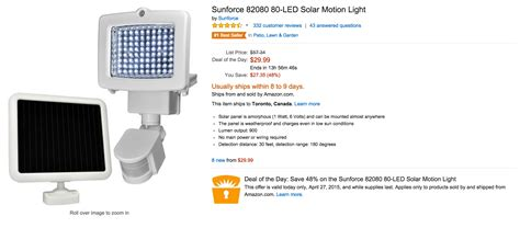 sunforce 80 led solar motion light home 1 yr sam s club plus w 20 gc 41 143 value