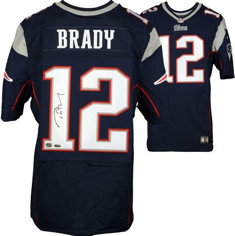 patriots jersey tom brady new patriots autographed navy nike elite jersey
