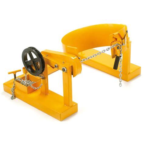 Plastic Storage Benches Fork Lift Drum Tilter Dlf05z Ese Direct