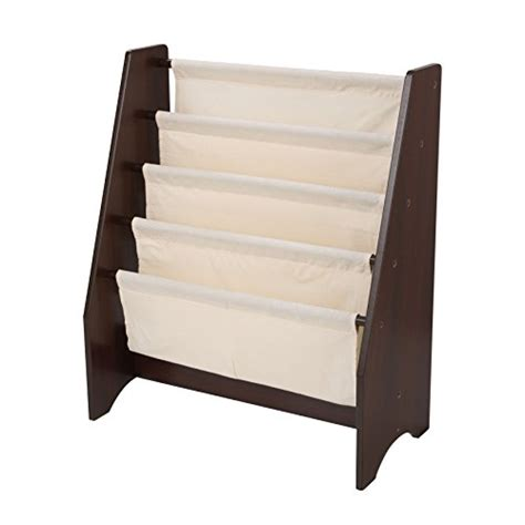 Book Organizer Kids Sling Bookcase White