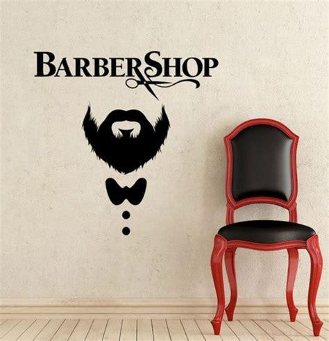 dekorasi salon dan barbershop menggunakan mural dan stiker