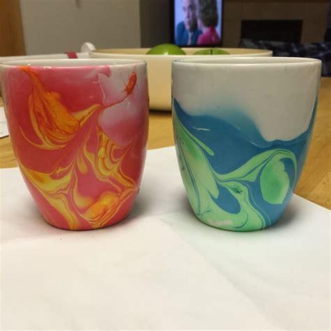 diy mug design nail polish diy nail polish watercolor coffee mugs nailed it