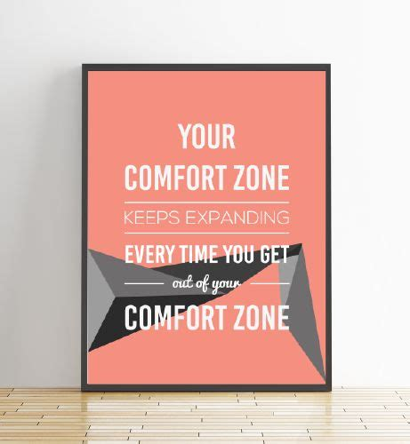 push your comfort zone 63 best images about inspirational quote prints on