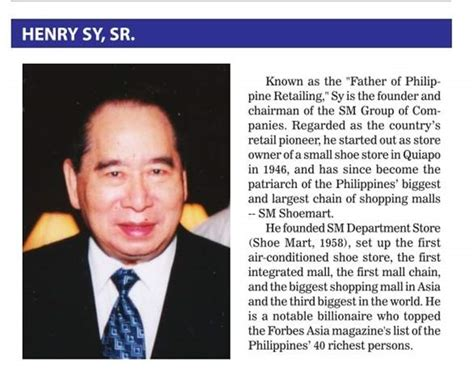 Story Sy quotes by henry sy like success
