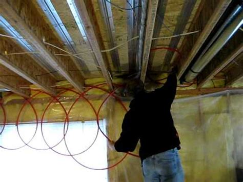 underfloor radiant heating installation
