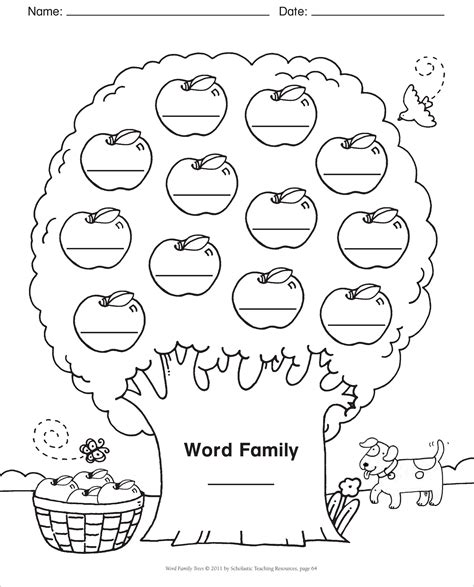 scholastic printable family tree word family template blank template word family tree