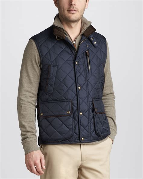 Vest Zipper Navy Polos polo ralph epson quilted vest aviator navy in blue lyst