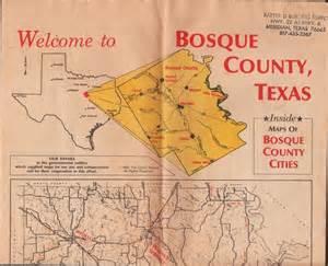 bosque county texas map 1993 bosque county texas tx maps clifton meridian iredell etc ebay