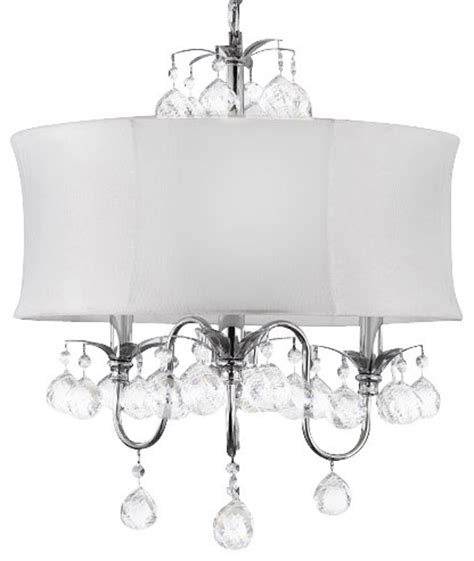 White Drum Pendant Chandelier Modern White Drum Shade And Crystaleiling Chandelier Pendant Lighting Fixture Traditional