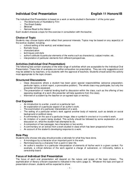 presentation script layout individual oral presentation edited