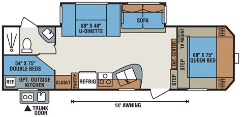 5th wheel floor plans rv floor plans damon motor coach motorhome floor plans