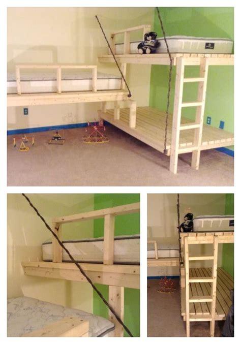 triple loft bunk bed best 25 triple bunk ideas on pinterest triple bunk beds