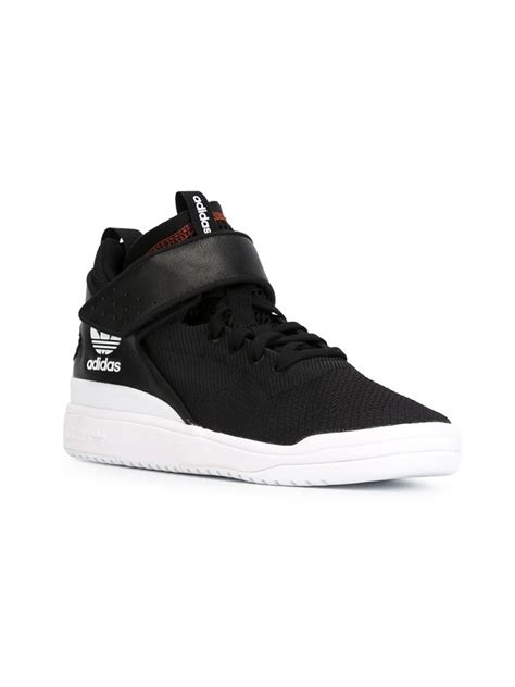 adidas high top shoes adidas originals veritas high top sneakers in black for