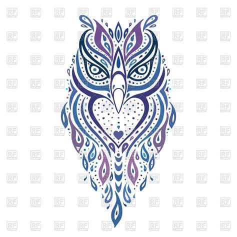 ornamental tattoo decorative ornamental owl ethnic 51523 plants