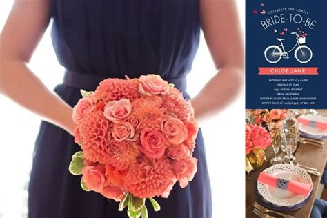 navy and coral wedding ideas coral and navy blue wedding reception ideas wedding