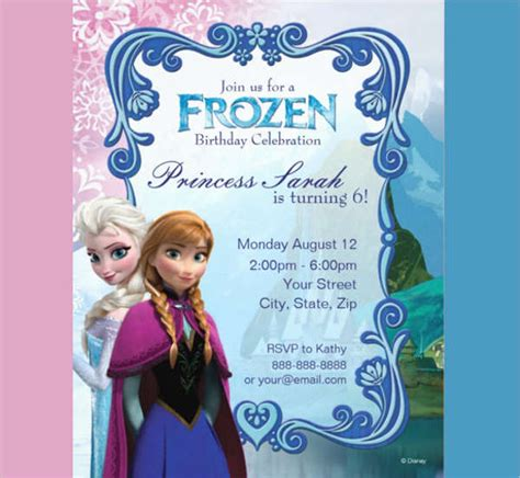 disney frozen birthday invitations printable birthday invitation templates in pdf free premium templates